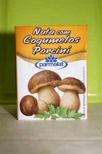 Natas com cogumelos porcini